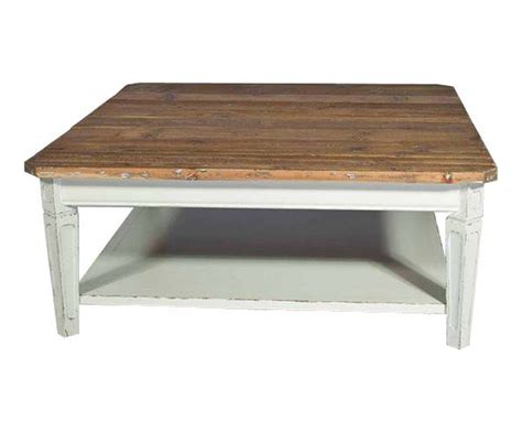 Normal Standard Table Table Basse Carr 233 E En Acajou Blanc Antique Et Pin Recycl 233