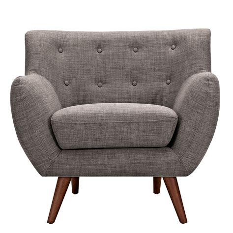 tufted armchair ida modern grey button tufted upholstered armchair with