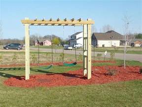 Backyard Swing Set Ideas Swing Set Small Yard Big Play The Kid End Of And Swings