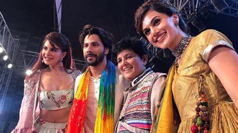 film india judwaa judwaa 2 cast goes desi as they celebrate navratri with