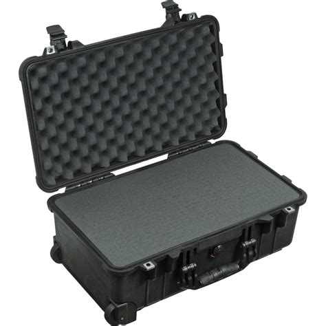 pelican cases pelican 1510 carry on with foam set black 1510 000 110