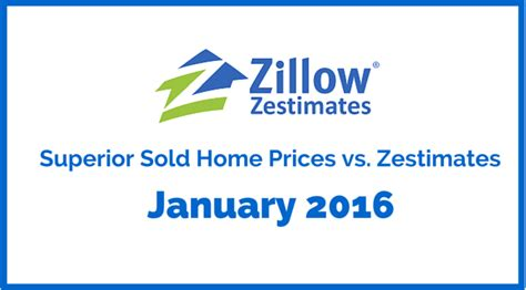 superior co zillow zestimates vs sold prices january 2016