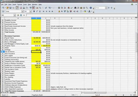 household budget template excel free household budget excel template spreadsheets