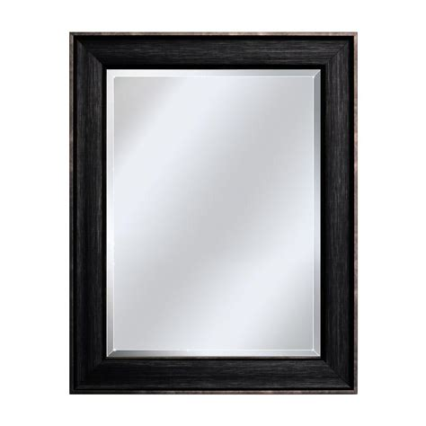 deco mirror 33 1 2 in x 27 1 2 in framed wall mirror in