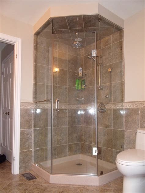 Custom Neo Angle Shower Door Modern Bathroom Toronto Custom Neo Angle Shower Doors