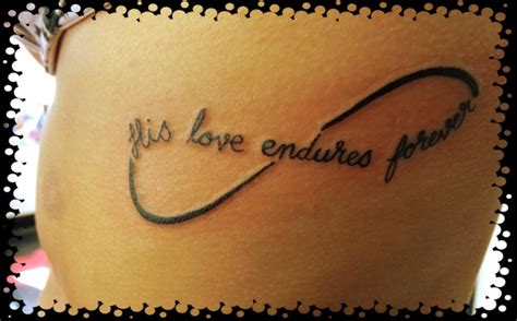 tattoo love forever infinity tattoo his love endures forever body artღ