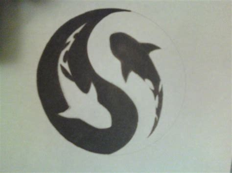 yin yang symbol tattoo design shark yin yang symbol design