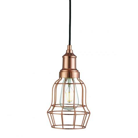 Cage Light Pendant 6847cu Bell Cage Copper Pendant