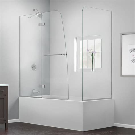 Shower Tub Door Shop Dreamline Aqua Ultra 60 In W X 58 In H Frameless Bathtub Door At Lowes