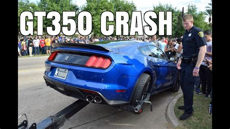 Cars And Coffee Mustang Crash by Gt350 Mustang Crashes Leaving Cars Coffee