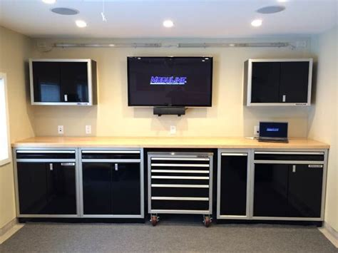 shop benches and cabinets black aluminum shop storage cabinets and workbench matt
