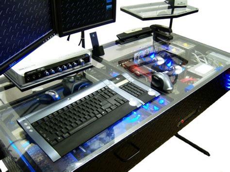 computer desk mods pc casemod int 201 gr 201 dans un bureau