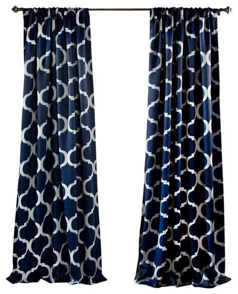 navy window curtains geo blackout window curtain navy contemporary