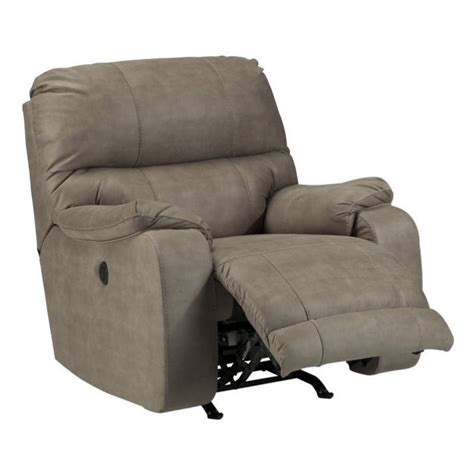 fabric rocker recliners ashley bohannon fabric power rocker recliner in taupe