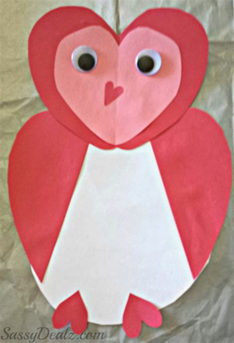 valentines crafts owl valentines day card idea for crafty morning