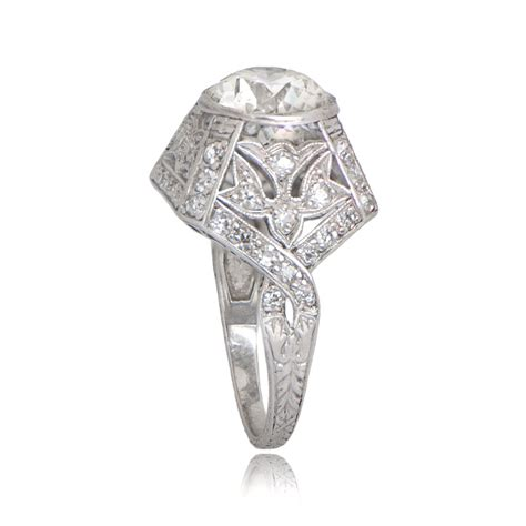 Deco Engagement Rings by 3 36 Deco Engagement Ring Circa 1930 Estate