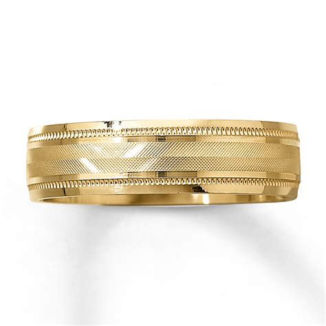10k Gold Wedding Band by S Wedding Band 10k Yellow Gold 6mm