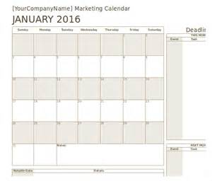 free calendar template marketing calendar template 3 free excel documents