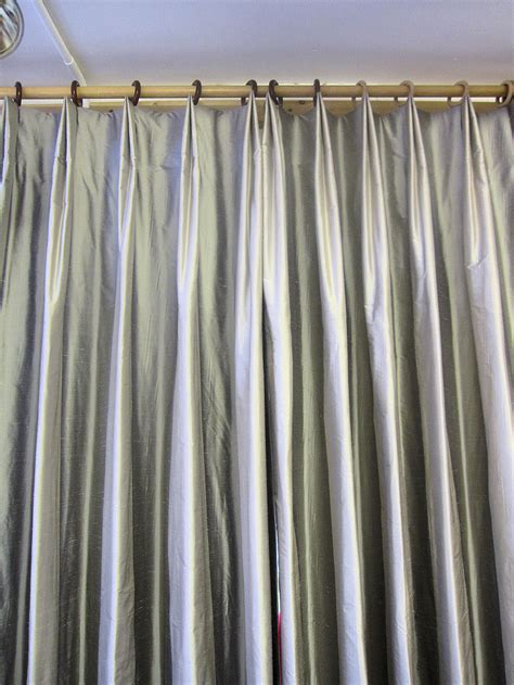 how to make drapery pleats variation of a double pleat a curtain maker s blog
