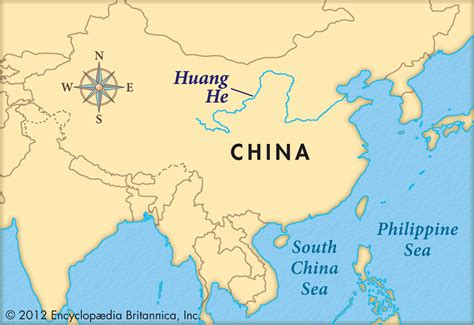 world map rivers huang he huang he river map