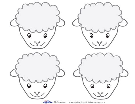 free printable sheep mask template best photos of lamb face template sheep clip art