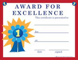 free excellence certificates certificate free excellence