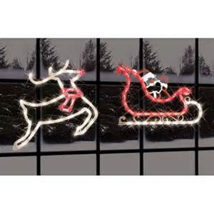 impact innovations 2 piece lighted santa sleigh and