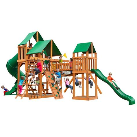 gorilla playsets treasure trove with posts and