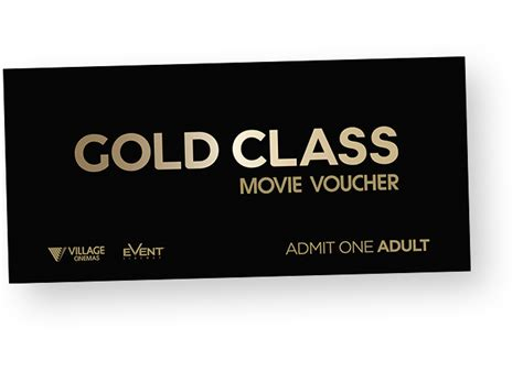 Gold Class Gift Card - gold class cinema gifts village cinemas gift shop
