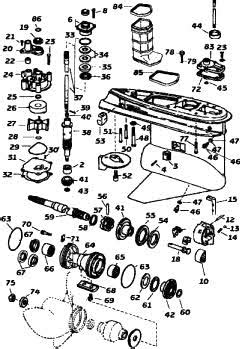 johnsonevinrude outboard parts drawings