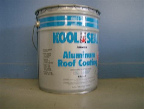 blue label kool seal aluminum roof coating for mobile home