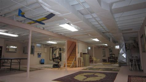 basement ceiling eclectic basement milwaukee by colorwheel painting llc