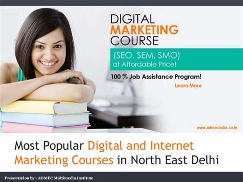Digital Marketing Degree Course 5 by Most Popular Digital And Marketing Courses
