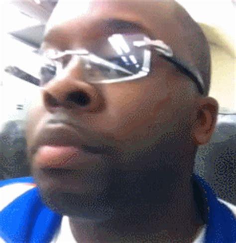 Black Guy With Glasses Meme - a black guy a priest and a rabbi board a plane gif