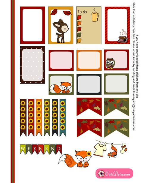 printable eclp stickers free printable fall stickers for happy planner and eclp