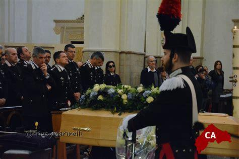 funerali con gli onori militari per il maresciallo angelo