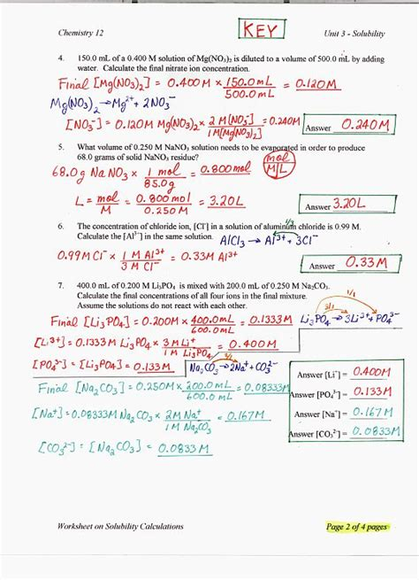 Chemistry Solutions Worksheet by Bc Chemistry 12 Gabe The Tutor