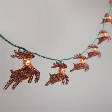 rattan reindeer 10 bulb string lights world market