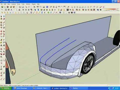 tutorial sketchup car modeling a supercar in sketchup part1 6 youtube