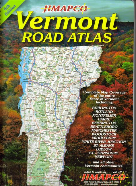 us road map amazon vermont road atlas 6th edition 171 jimapco