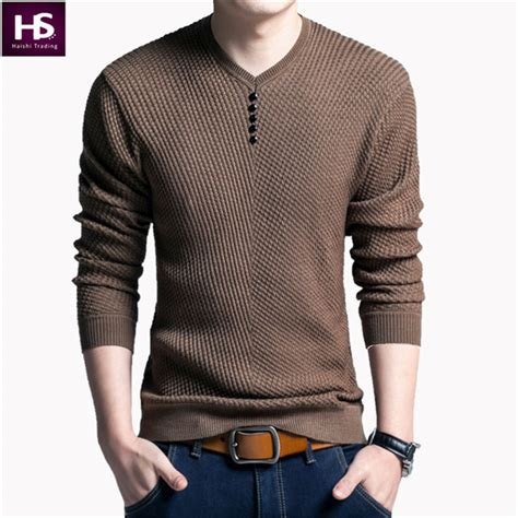 asterluna jaket sweater casual pria 330 30 solid color pullover v neck sweater sleeve
