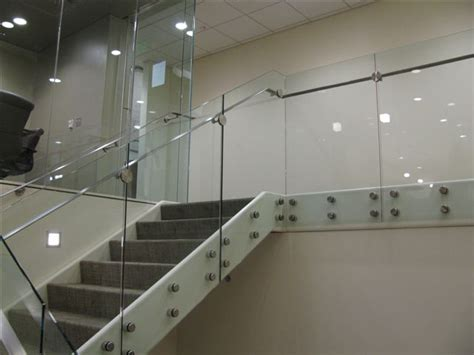 French Country Home Interior Slab Nose Railing 171 Sadev Architectural Glass Systems