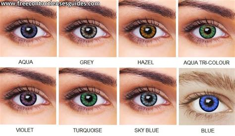 colored contact lenses pin freshlook colored lenses color exles on