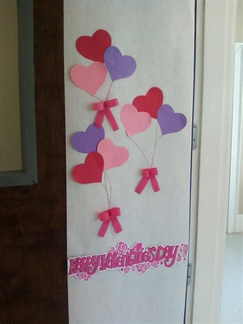 door decorations for valentines simple s day classroom door school stuff