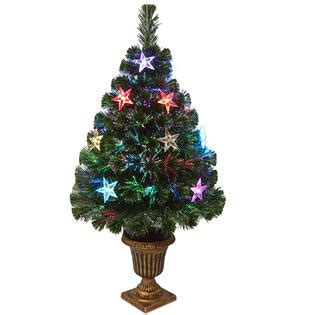 national tree company 36 quot fiber optic evergreen tree with
