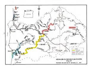 nehalem oregon map january 2008 common waters of oregon
