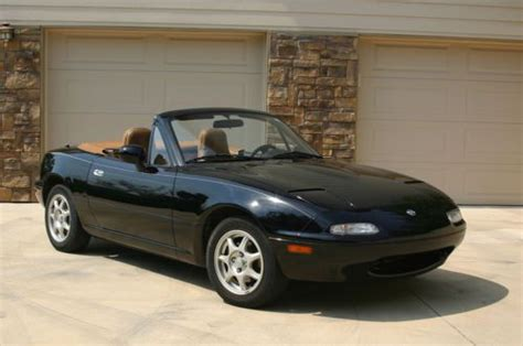 mazda convertible black sell used mazda miata mx 5 black with tan convertible top