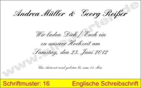 Muster Einladung Englisch Schriftmuster Alle Karten De