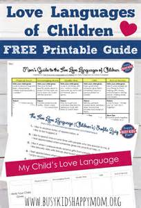 Guide to the five love languages of children printable quiz love