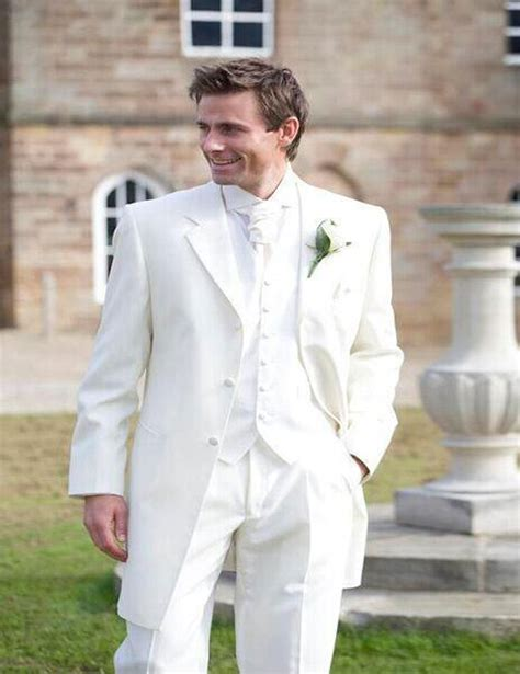 2016 tuxedos for men ivory 3 pieces wedding for men